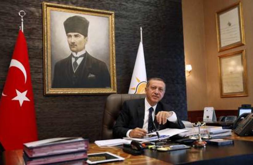 Erdogan post election win 521 (photo credit: REUTERS/Umit Bektas)
