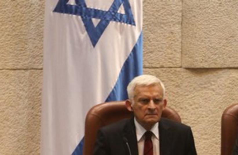 Buzek at Knesset 311 (photo credit: Knesset)