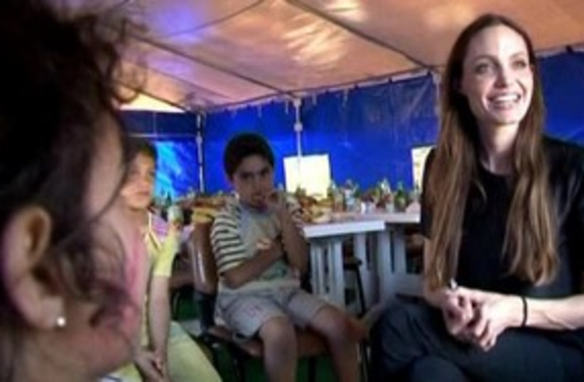 Angelina Jolie visits Syrian refugees 311 R (photo credit: REUTERS)
