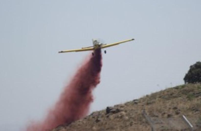 Firefighting plane Golan 311 (photo credit: Galil/Golan Firefighters spokesperson)