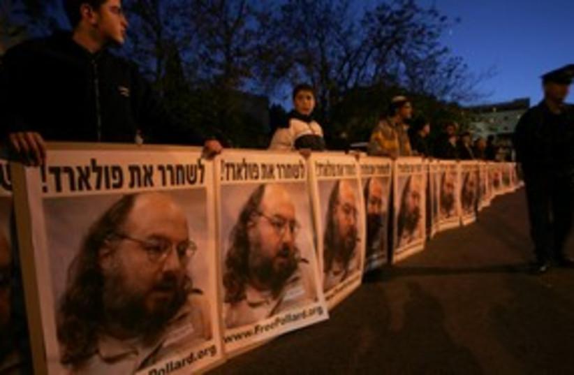 Israeli protesters for Pollard_311 reuters (photo credit: Ronen Zvulun / Reuters)