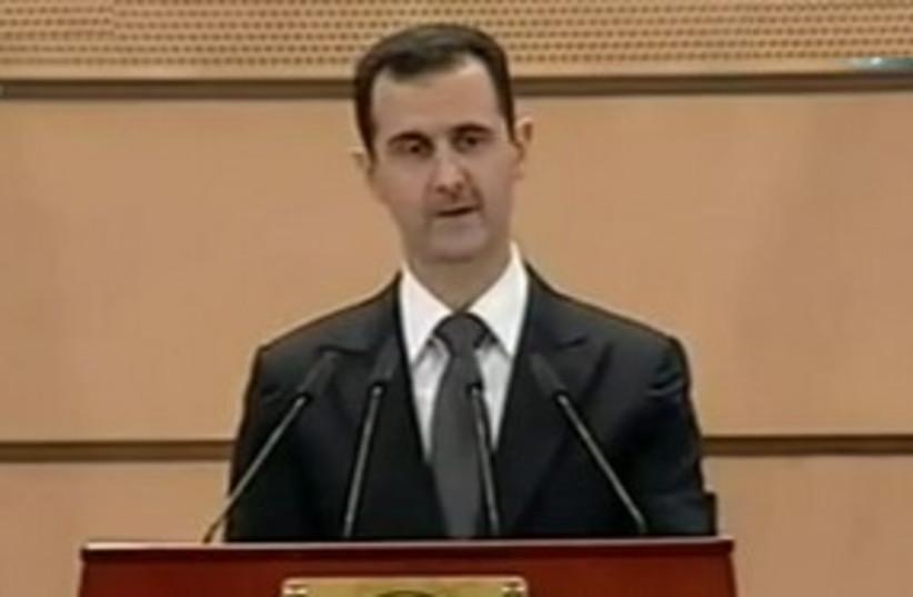 Assad speaking 311 (photo credit: Screenshot)