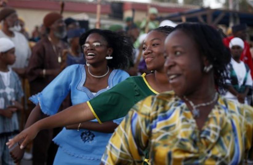 African Hebrew Israelis celebrate shavuot dancing