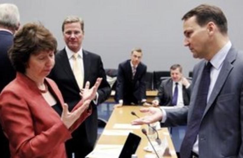 European Union ministers in Luxembourg 311 (R) (photo credit: REUTERS/Francois Lenoir )