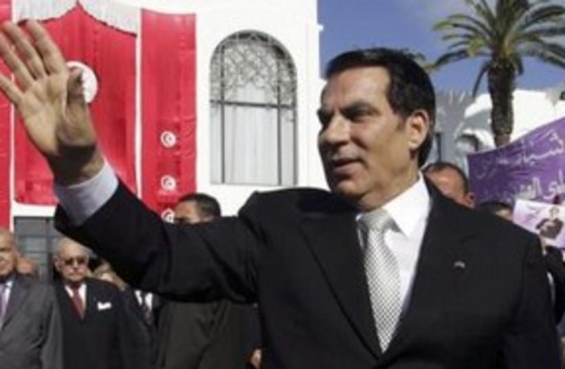 Former Tunisian president Zine al-Abidine Ben Ali 311 (R) (photo credit: REUTERS/Zoubeir Souissi)