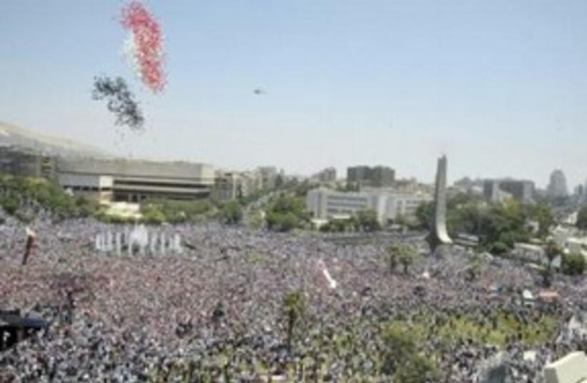 pro-assad rally syria_311 (photo credit: REUTERS/Sana/Handout )