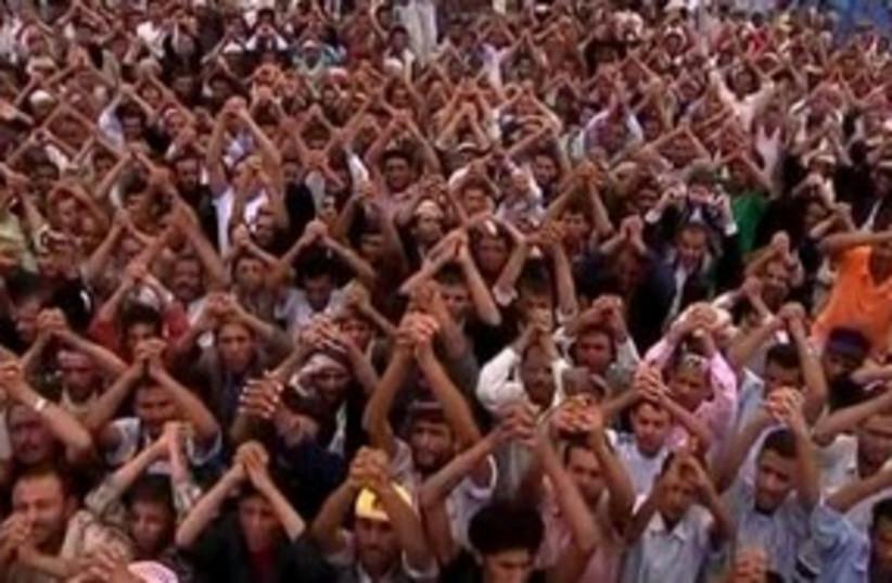 Anti Saleh Demonstation 311 R (photo credit: REUTERS)