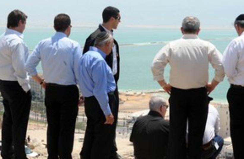 Netanyahu Dead Sea 311 (photo credit: Moshe Milner/GPO)