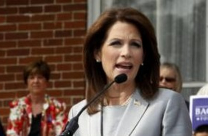 US Rep. presidential candidate Michele Bachmann 311 (R) (photo credit: REUTERS/Jeff Haynes)