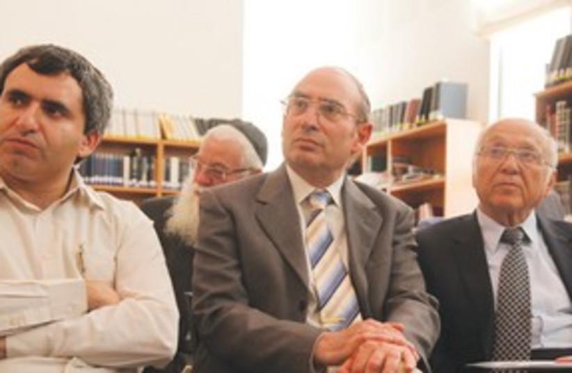 MK ZE'EV ELKIN, Justice Minister Yaakov Neeman 311 (photo credit: Marc Israel Sellem/The Jerusalem Post)