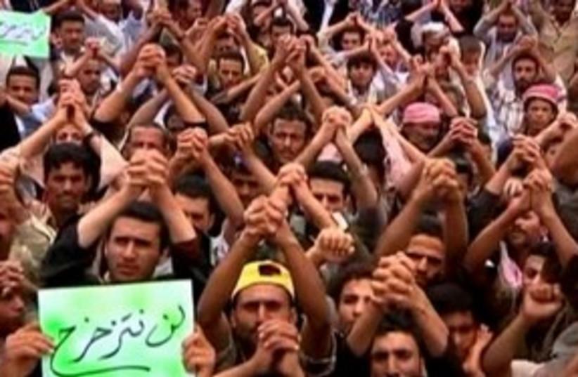 Yemen protests 311 R (photo credit: REUTERS)