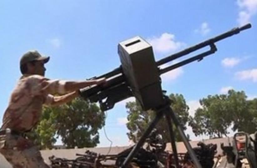 Libyan soldier 311 R (photo credit: Reuters)