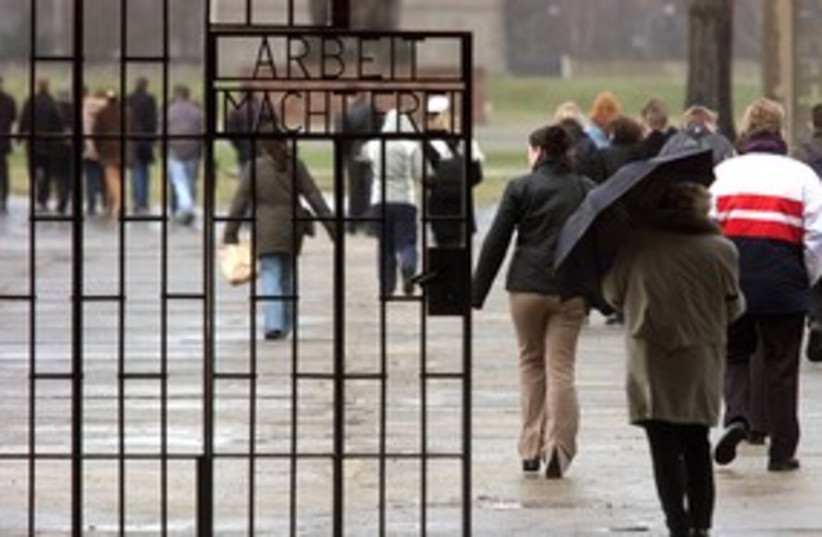 Visitors at Sachsenhausen concentration camp 311 (R) (photo credit: Reuters)