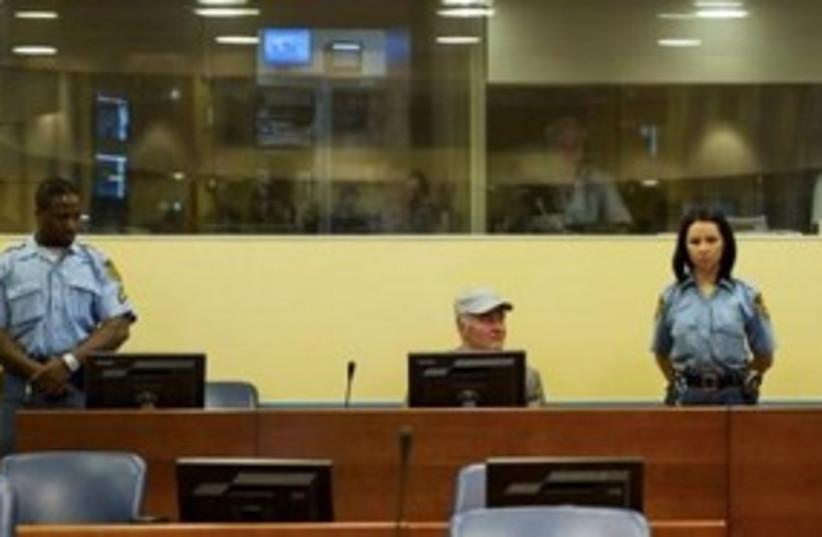 Mladic in Court 311 (photo credit: REUTERS)