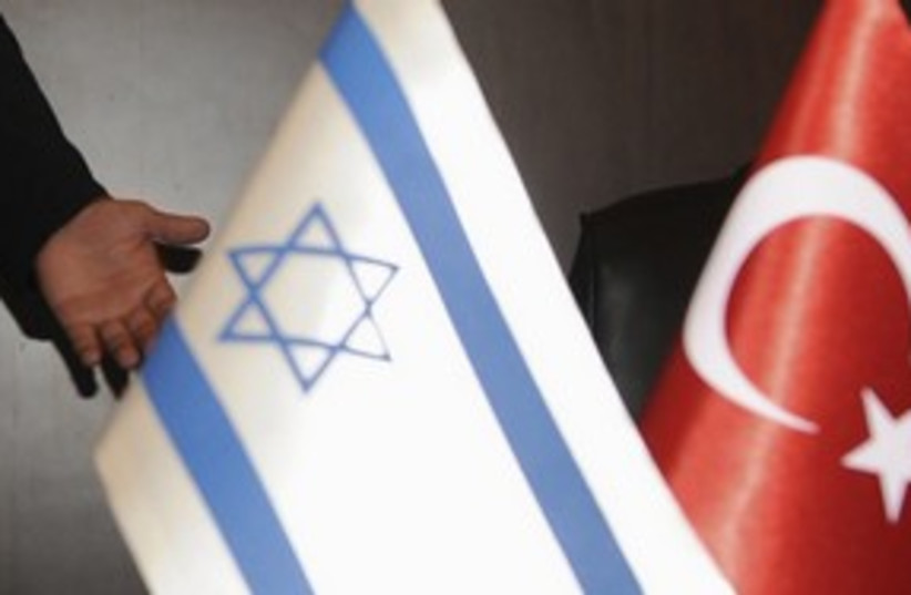 Israeli and Turkish flags 311 (R) (photo credit: REUTERS)
