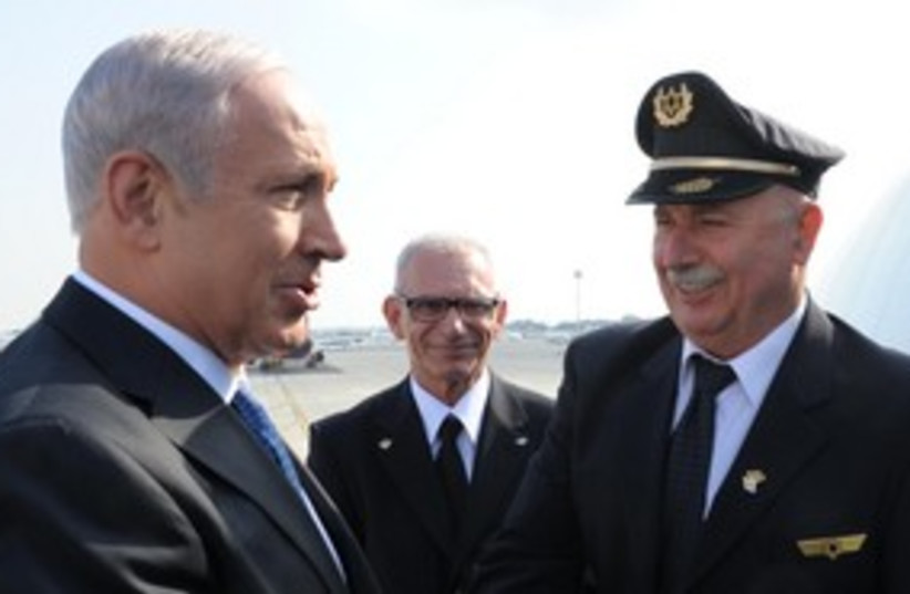 PM Netanyahu Ben Gurion Airport_311 (photo credit: Moshe Milner GPO)