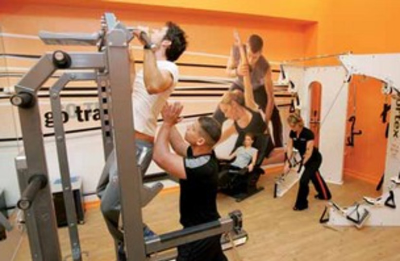 TRAINING IN A GO ACTIVE FITNESS CENTER (photo credit: Courtesy)