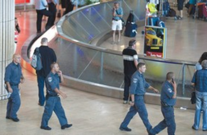 Police at Ben Gurion Airport 311 (R) (photo credit: Nir Elias/Reuters)