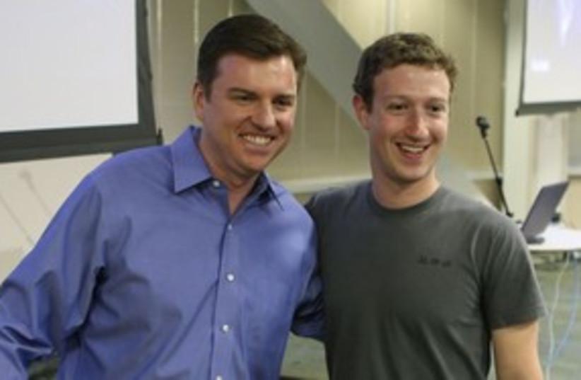 Skype CEO Tony Bates, Mark Zuckerberg_311 (photo credit: Reuters)