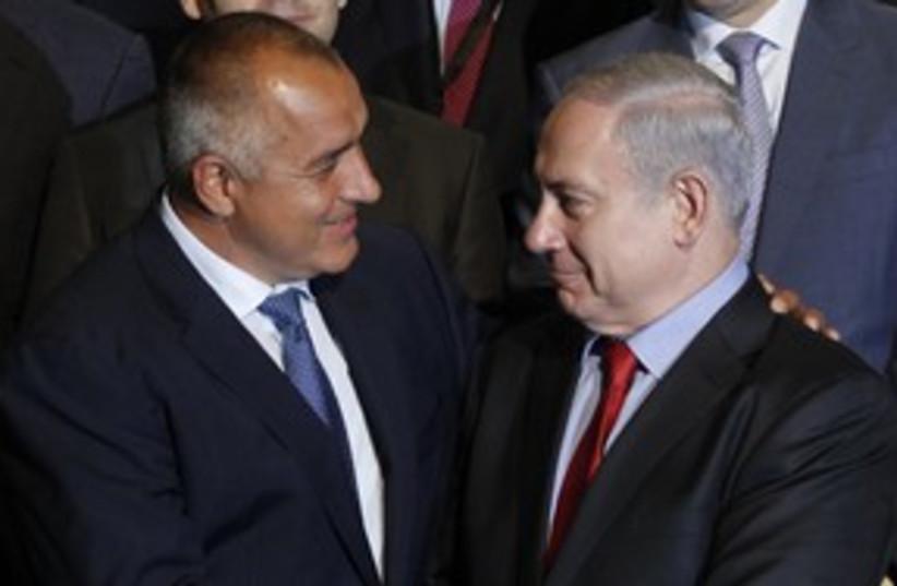 Netanyahu Borisov 311 R (photo credit: REUTERS)