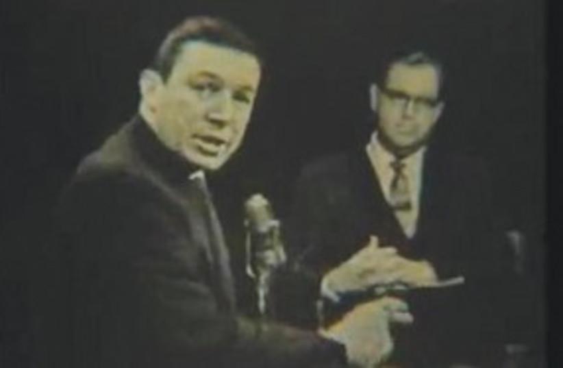 Abba Eban on tv show 311 (photo credit: CSPAN)
