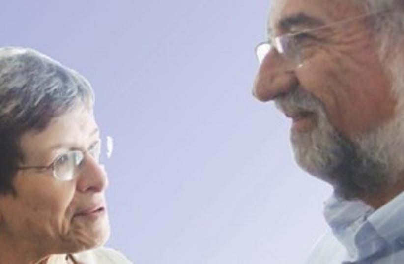 DR. MILKA DONCHIN and Amram Mitzna 311 (photo credit: Judy Siegel-Itzkovich)