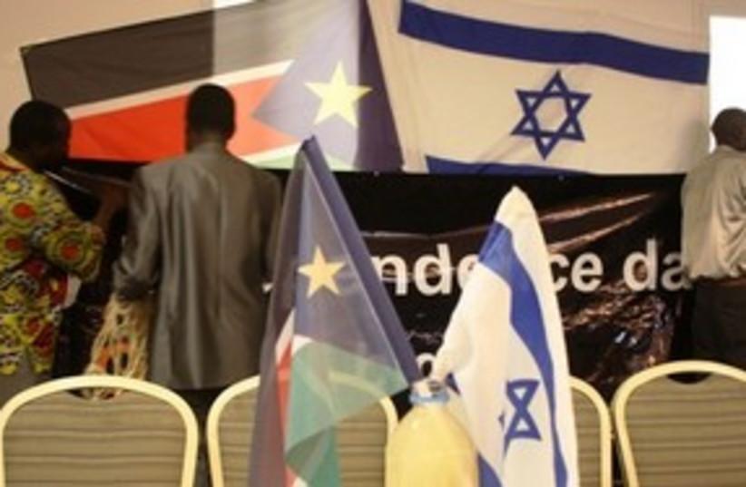 South Sudan Israel flags 311 (photo credit: Ben Hartman)