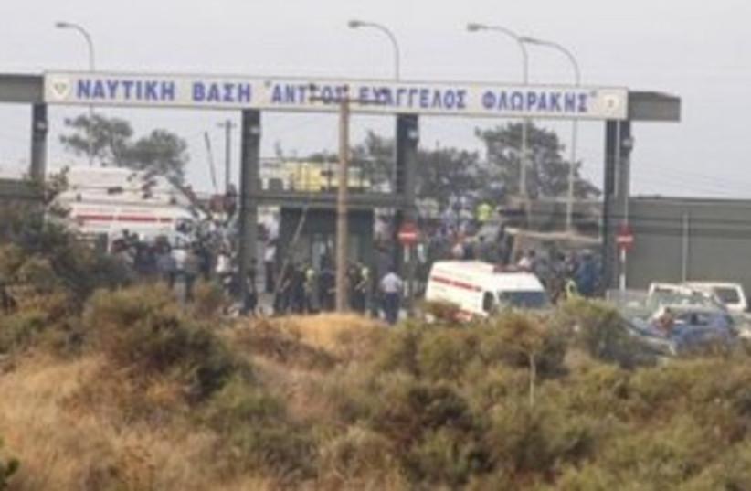 Cyprus blast 311 (photo credit: REUTERS)