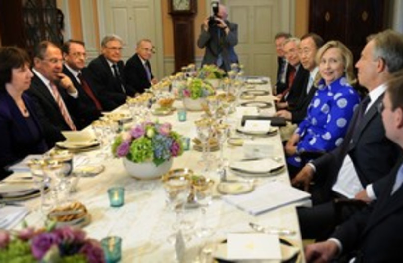 quartet dinner washington (photo credit: Jonathan Ernst / Reuters)