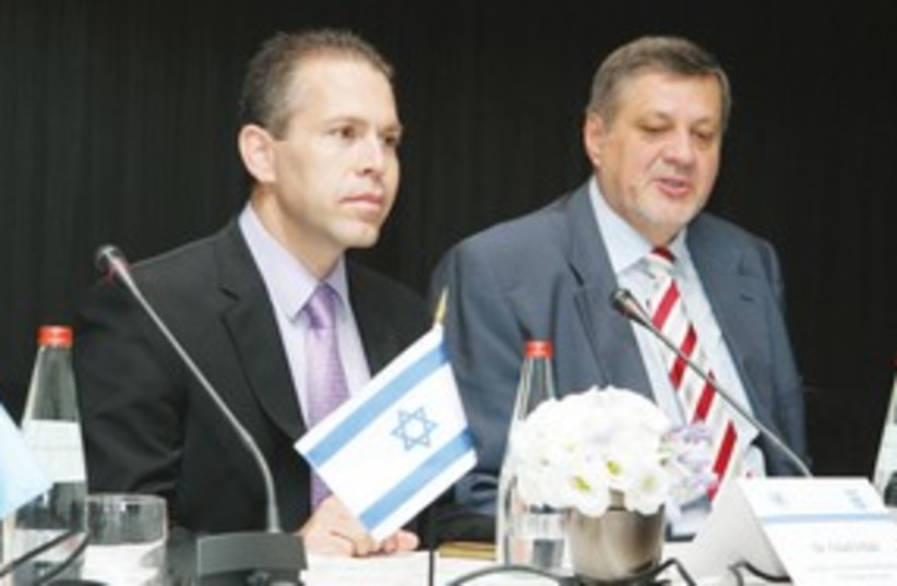 Gilad Erdan (left) and UN's Jans Kubis 311 (photo credit: Courtesy)