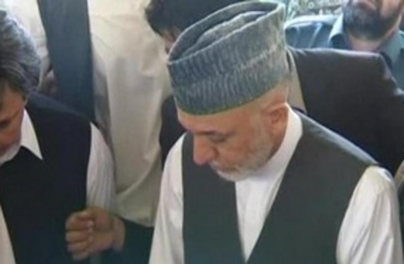 Hamid Karzai 311 R (photo credit: REUTERS)