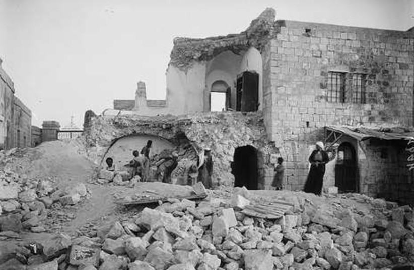 Ruined home on Mt. of Olives