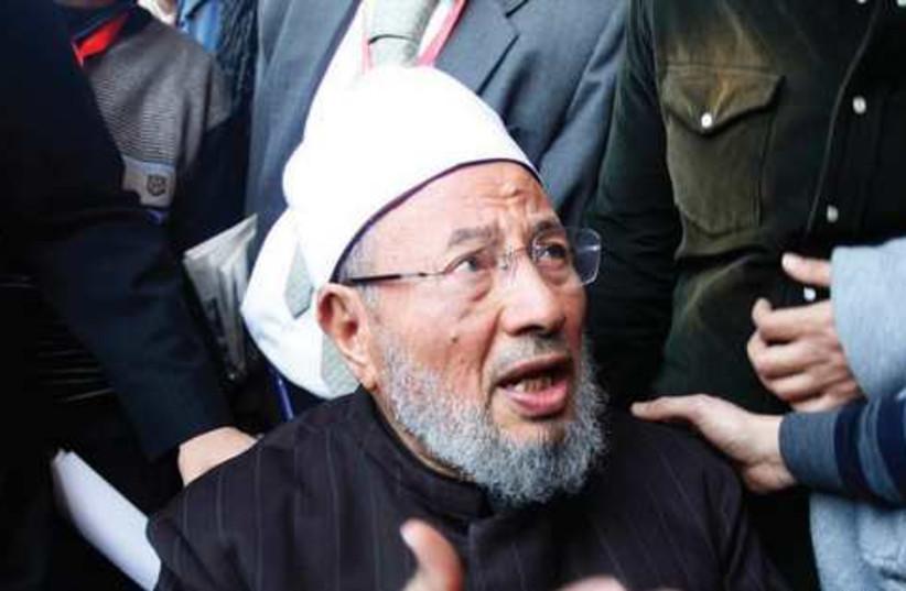 Sheikh yusef al-Qaradawi (photo credit: Shaib Salem/ Reuters)