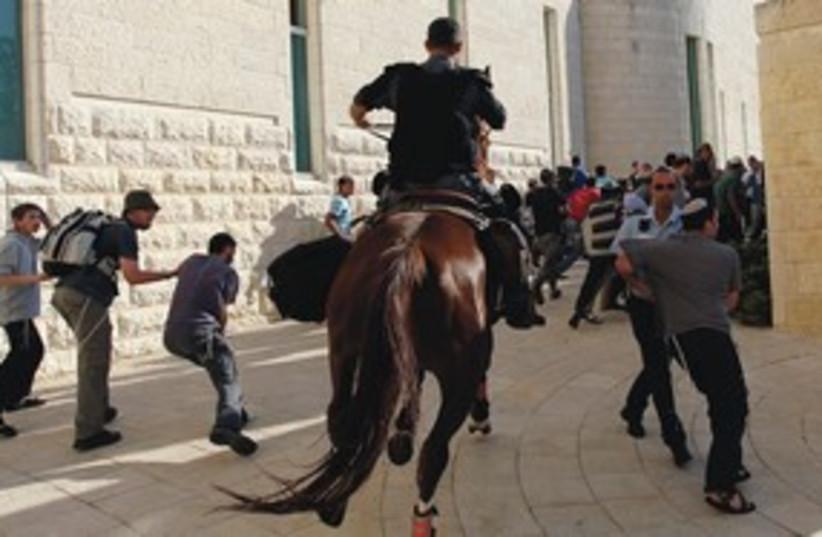 Torat Hamelech riots 311 (photo credit: Reuters)