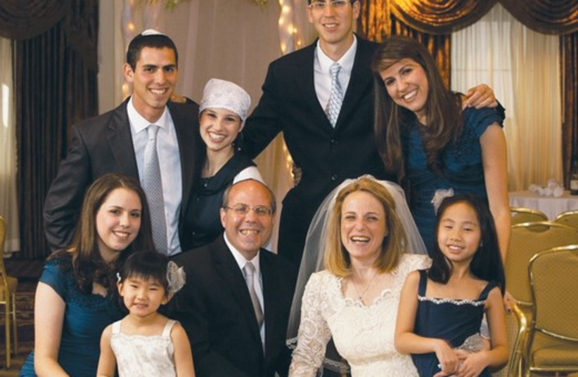 Irving Wiesen and Lous Liebowitz with children 521 (photo credit: Courtesy)