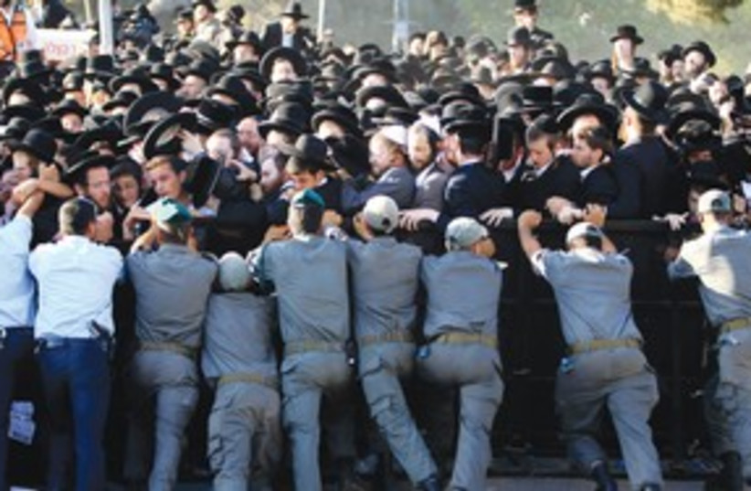 haredi protest 311 (photo credit: REUTERS)