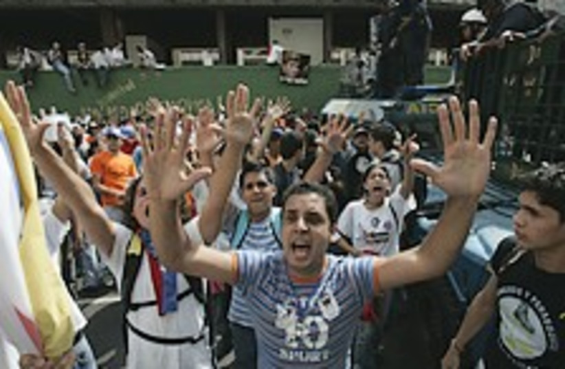 Venezuela protests 224.8 (photo credit: AP)