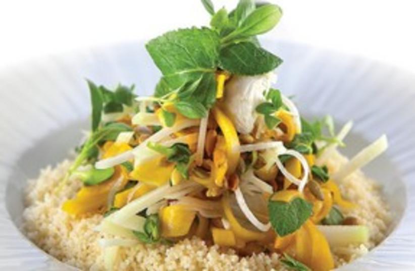 Squash and kohlrabi salad (photo credit: Anatoly Michaelo)