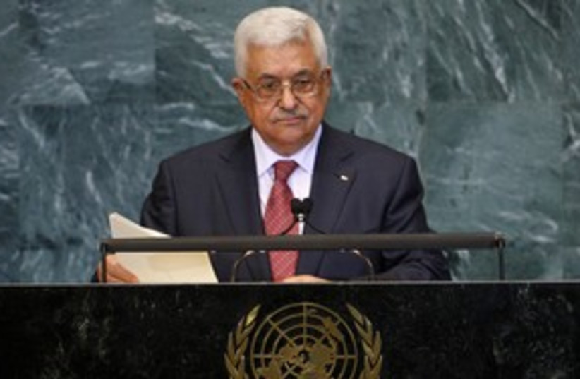 PA President Mahmoud Abbas at the United Nations 311 (R) (photo credit: REUTERS/Chip East)