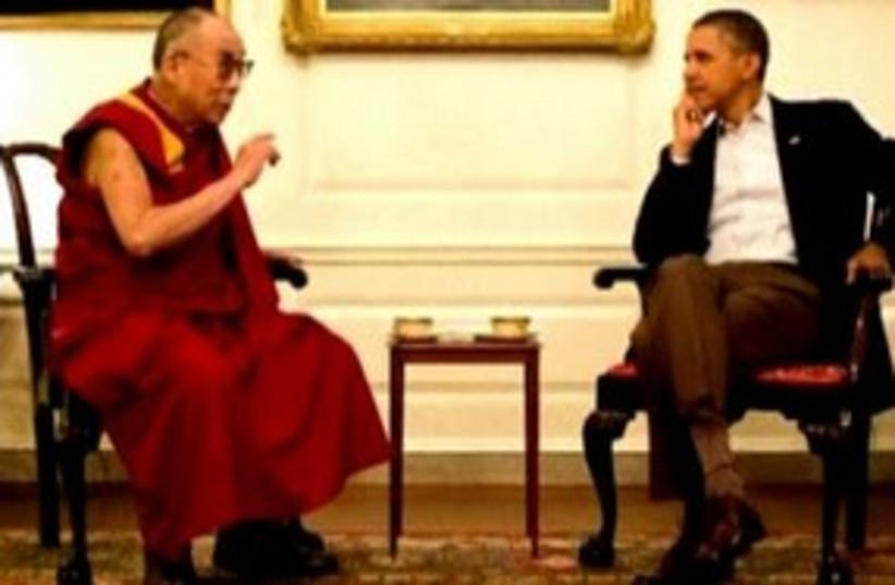 Dalai Lama Barack Obama 311 R (photo credit: REUTERS)