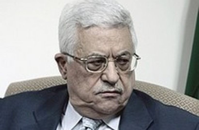 Abbas angry 248.88 CHECK CAPTION (photo credit: AP)