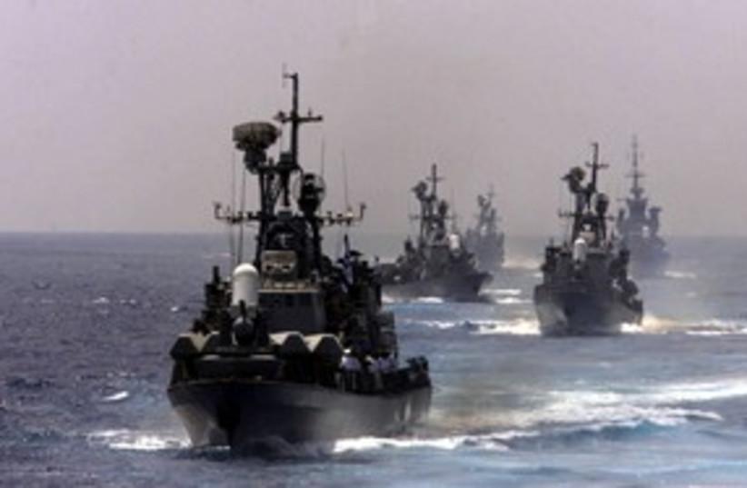 Israel Navy ships 311 (photo credit: REUTERS)