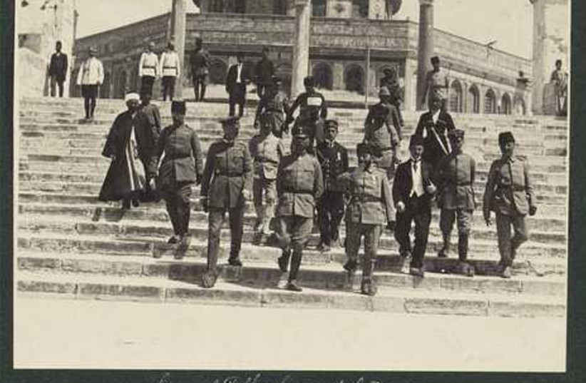 German officers on the Temple Mount in 1916