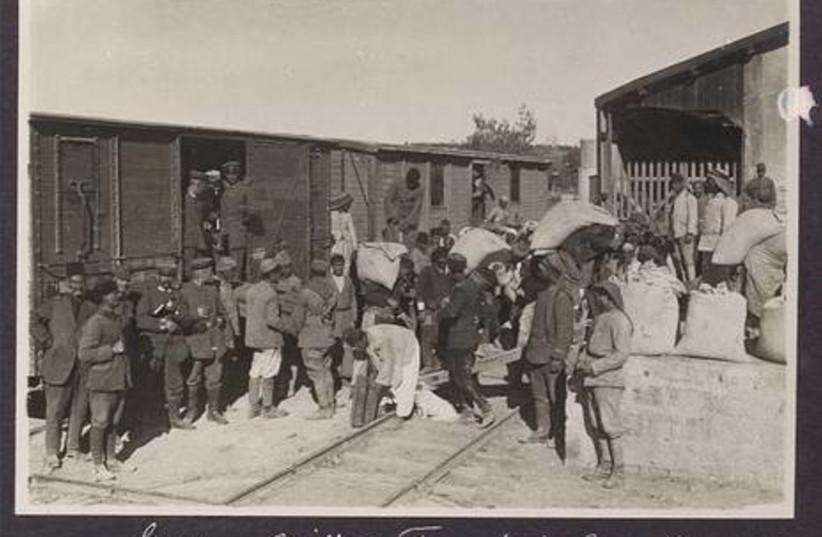 German military transport in Jerusalem 1917