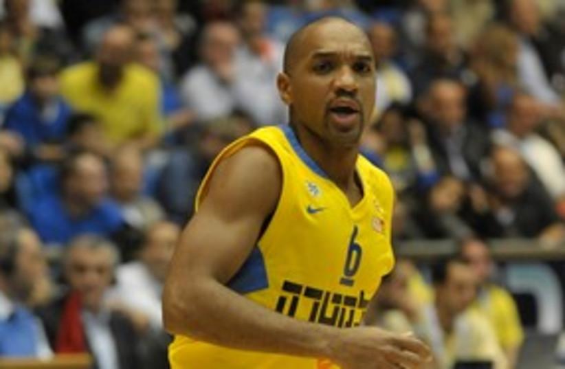 Maccabi Tel Aviv's Derrick Sharp 311 (photo credit: Asaf Kliger)