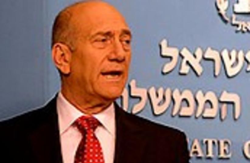 Olmert during speech 224 (photo credit: GPO)