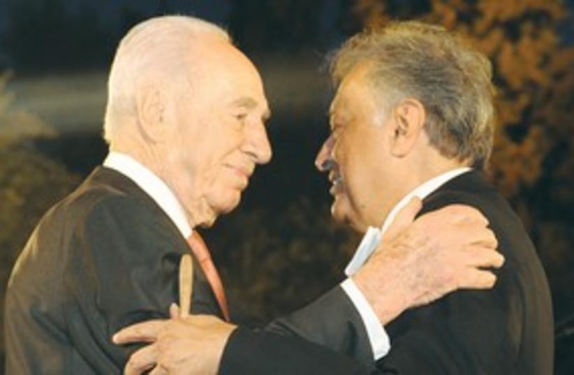 Peres with Zubin Mehta 311 (photo credit: Marc Neiman/GPO)