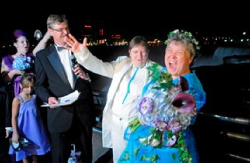 gay grandmothers married_311 reuters (photo credit: REUTERS/Doug Benz)