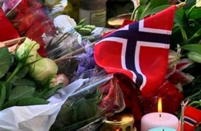 Norway vigil (photo credit: REUTERS)