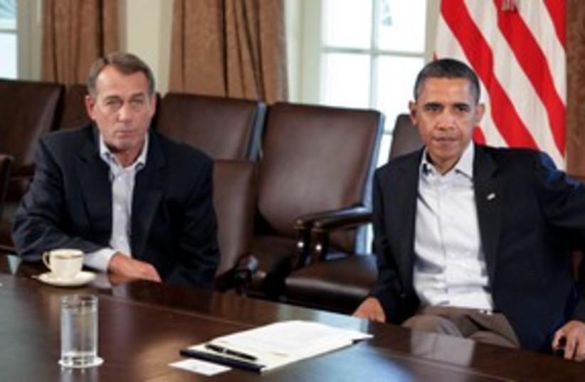 Obama Boehner 311 (photo credit: REUTERS)